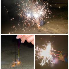 花火 やっぱりBBQの最後は花火だねぇ✨ 花火…