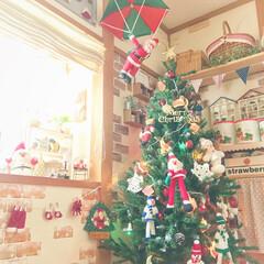 サンタ服ガーランド/クリスマス雑貨/パラシュートサンタさん/アメリカンカントリー/クリスマスツリー180cm/クリスマス/... 我が家のお気に入りのクリスマスツリー❤ …