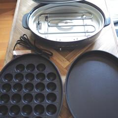 おうち時間/楽天ビック/ホットプレート/山善/キッチン家電/キッチン雑貨/... 最近買ったホットプレートです。 たこ焼き…