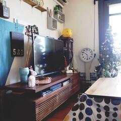 こたつ/クリスマス2019/リミアの冬暮らし/DIY/住まい/暮らし/... リビングの冬の感じです。 クリスマスツリ…