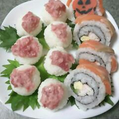 手まり寿司/ハロウィン/おうちごはん 今日はハロウィンとか。 こんなところにも…