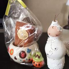 ひょうたん/チョコケーキ/ハロウィン2019/ハンドメイド/フォロー大歓迎 先日、姉と姪からもらったものです💛  姉…