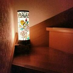 さくらほりきり/灯り/インテリア/ハンドメイド 和紙工芸の手芸キットです。 階段に置いて…