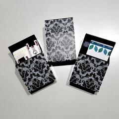マスキングテープ/マステ/シガレットケース/白黒/モノトーン/ダマスク柄/... セリアで 黒のシガレットケースを 購入し…