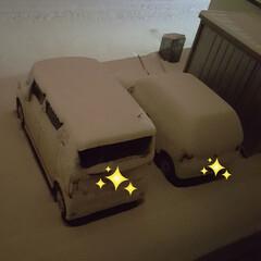 出発前日/除雪の季節/除雪/駐車場/積雪/悪天候/... 祖母の御見舞に行く前日。 大雪で空港に行…