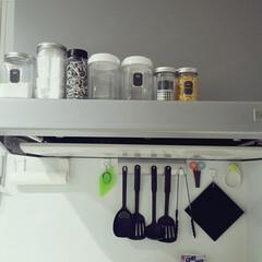 レンジフード/マグネット/磁石/タカラスタンダード/キッチン収納/100均/... レンジフードを お掃除しました💓  サボ…