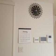 NITORI/壁掛け時計/給湯器のリモコン/発電モニター/インターホン/カレンダー/... ■セリア  来年のカレンダーを購入。 お…