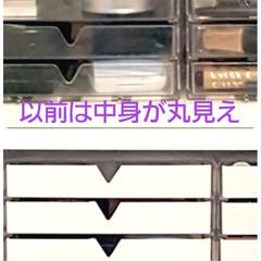 簡単アレンジ/簡単リメイク/簡単/リップ/収納ケース/収納アイデア/... ダイソーで購入した200円の透明3段引き…