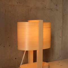 木製照明/北欧インテリア/DIY/デスクライト/真鍮プレート/名入り/... OVAL  W200×D124×H287…