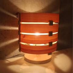 木製照明/北欧家具/北欧インテリア/DIY/刻印プレート/真鍮プレート/... LOOP  W200×D200×H240…