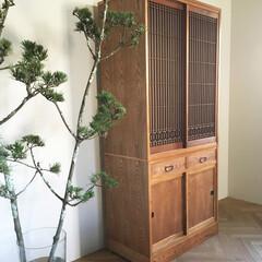 オーダー家具/水屋箪笥/飾り棚/箪笥/アンティーク/リメイク/... ご自宅の建替えの際にお客様が大切に保管さ…