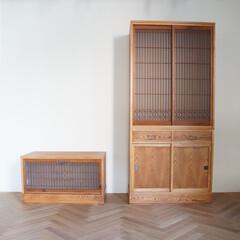 オーダー家具/水屋箪笥/箪笥/飾り棚/リメイク/アンティーク/... ご自宅の建替えの際にお客様が大切に保管さ…
