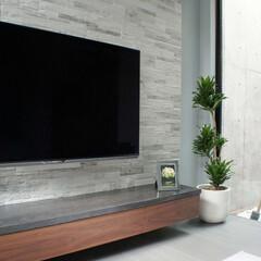 オーダー家具/テレビボード/アクセントウォール/モールテックス/MORTEX/壁掛けテレビ/... タイルのアクセントウォールと、宙に浮いた…