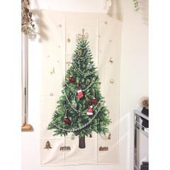 クリスマスツリータペストリー/タペストリー/クリスマスツリー/クリスマス/インテリア/雑貨/... 人気のクリスマスツリータペストリー🌲を飾…