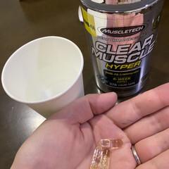 MUSCLETECH CLEAR MUSCLE HYPER | マッスルテック(サプリメント)を使ったクチコミ「初めて飲んでみました! 匂いが少し強いか…」