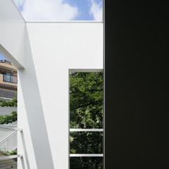 モダン/シンプル/ナチュラル/スタイリッシュ/デザイン/デザイナー/... 敷地内の一番日当たりのいい位置を物干し場…
