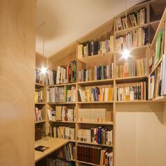 リフォーム/リノベーション/改修/本棚/本/書斎/... 本棚の奥にはこのようなスペースもあります…