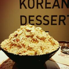 かき氷/フード/グルメ/福岡 ソルビン 韓国のかき氷🍧 香ばしいきな粉…