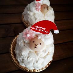 スイーツ/ケーキ/ひつじ/サンタ/クリスマス2019/リミアの冬暮らし/... もこもこ具合がたまらん(><) リトルメ…