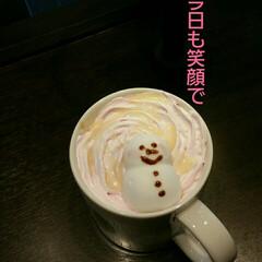 雪だるま/コーヒー/タリーズコーヒー おはようございます 朝から雨です💧 そん…