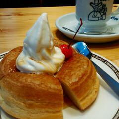 コーヒー/シロノワール/コメダ珈琲店 初めてのコメダ珈琲☕に 私のテンション⤴…