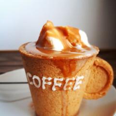 アイス/アフォガート/コーヒー/クッキー/グルメ/フード/... 注)カップはクッキーで出来ています これ…