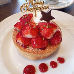 クリスマスケーキ/パンケーキ/スフレ/コーヒー/いちご/クリスマス/... X'mas🔔第1弾 星野珈琲店のクリスマ…(1枚目)