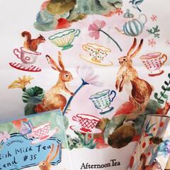 ミルクティー/紅茶/うさぎ/グルメ/フード/スイーツ/... 絵画のような素敵なデザイン Aftern…