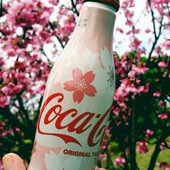 花見/桜/コカ・コーラ/フード/おでかけ 週末、 お天気崩れる前にお花見🌸 まだ昼…