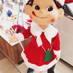 不二家/クリスマス/おでかけ/グルメ/フード/スイーツ/... 大好きペコちゃん♥ サンタ仕様です 不二…