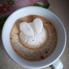 チョコレート/ラテアート/スイーツ/kaldi/マシュマロ/コーヒー/... 今日、4月12日はイースター🐣 いつもな…