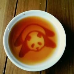 パンダ/雑貨 あ~ら不思議!! お皿の中に🐼 かわいい…