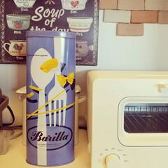 缶/バリラ/インテリア/雑貨/キッチン/キッチン雑貨 イタリアの有名パスタ、バリラ。 日本のス…
