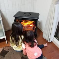 暖炉型ファンヒーター/暖炉型ヒーター/インテリア/電気暖炉/雑貨 我が家についにディンプレックスの電気暖炉…