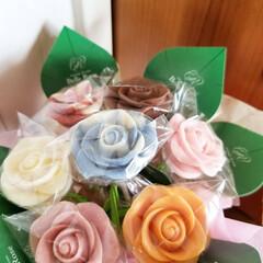 チョコレート/バラ/薔薇/スイーツ/グルメ/フード 結婚記念日にいただいたチョコレートの(!…(1枚目)