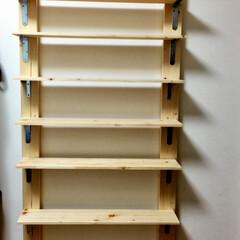 本棚/ディアウォール/2×4/DIY/インテリア/収納 娘のリクエストで 母娘2人で 人生初DI…