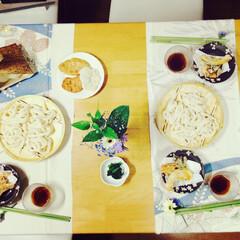 なんとなく/雰囲気/豪華/和風/着物/フラワー/... 普通の食卓だけど、テーブルクロスと箸置き…