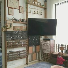 壁掛けテレビ/多肉植物/グリーン/流木/ニトリ/おままごとキッチン/...