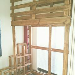 ワンバイフォー/ツーバイフォー/DIY/家具/収納/ハンドメイド 和室にロフト製作中。。。試行錯誤でホーム…