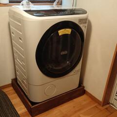 洗濯機DIY/SPF材/DIY 洗濯機下を隠すためにSPF材で囲ってみま…