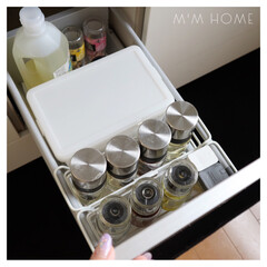 引き出し収納/調味料収納/シンデレラフィット/キッチン/収納  調味料の引き出し収納  ケースとボトル…