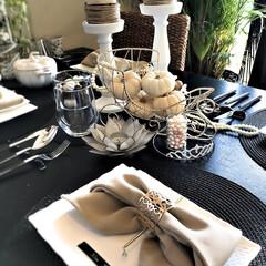テーブルコーディネイト/インテリア/IKEA/ハロウィン/100均/ダイソー/... 週末の女子会 おもてなしテーブルコーディ…