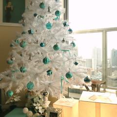 ティファニーブルー/クリスマスディスプレイ/クリスマス/インテリア/住まい https://instagram.co…