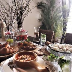 テーブルコーディネート/春のテーブル/朝ごはん/ノンアルカクテル/フード/グルメ Breakfast on Sunday🍽…