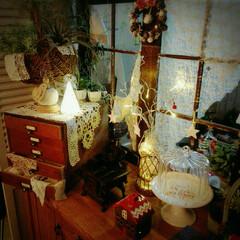 クリスマス雑貨/アンティークレース/マニー雑貨/DIY/雑貨/100均/... 大好きな場所♡
