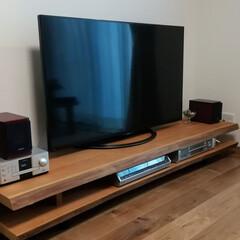 ローボード/テレビ台/テレビボード/DIY/家具 テレビ台のDIY です。 板は、耳付きの…