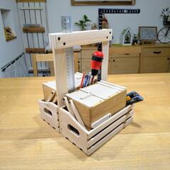 オカモチ/おかもち/岡持ち/スライドボックス/工具箱/セリア/... 100均材料で岡持ち風な工具箱を作成して…