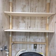 ラブリコ/1×4/2×4/ディアウォール/浴室・風呂/洗面所/... リメイクシート施工完了! 次は、どうしょ…