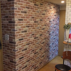 Cafe/ブルックリン/壁紙/FE-1233/サンゲツ/リフォーム/... ブルックリン カフェ計画。 サンゲツのレ…