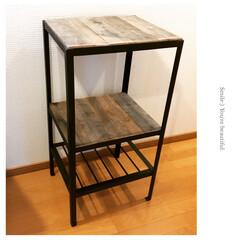 DIY女子/カフェ/古材/アイアン/DIY/雑貨/...  アイアンシェルフを作りました。ヴィンテ…